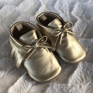 Baby Girl Moccasins EUC